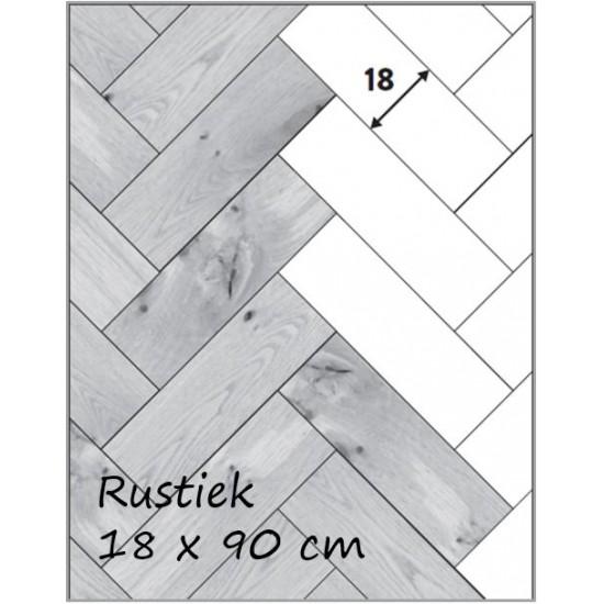 Visgraat eiken rustiek 18cm - zeezout